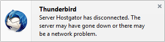 Thunderbird error message