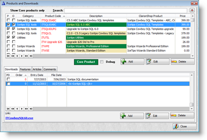 SQL templates for Clarion Screenshots - Better, faster browses with ...